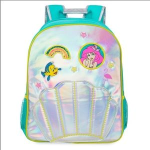 Disney Store The Little Mermaid Holographc Backpck